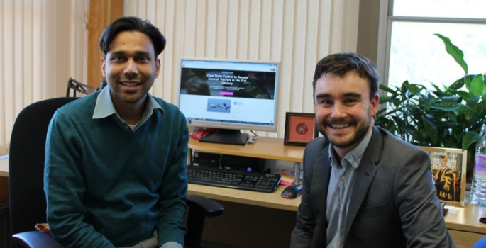 dr-wali-aslam-with-andy-dunne-discussing-the-latest-university-of-bath-mooc-1455113078