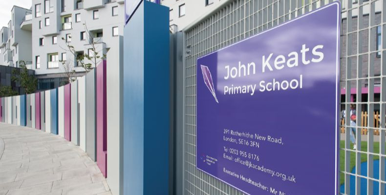 BEG was selected to supply the presence and motion sensors for John Keats Primary School