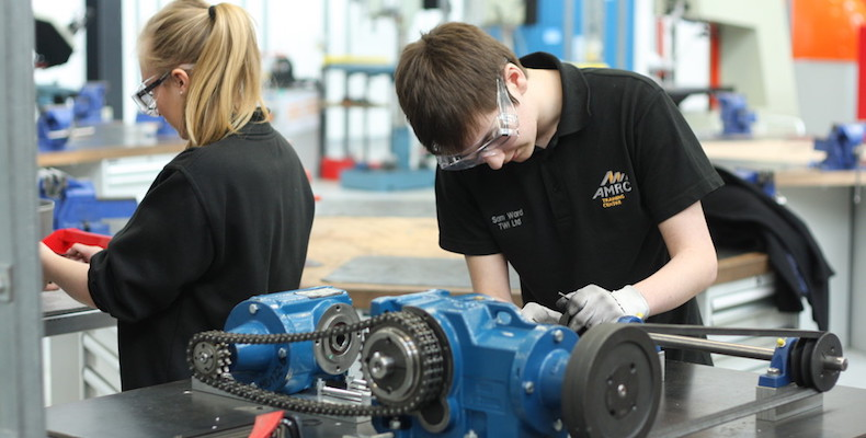 Students at University of Sheffield's Advanced Manufacturing Research Centre