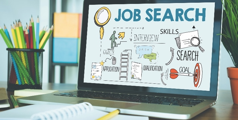 BUSINESS EMPLOYEE HUMAN RESOURCES AND JOB SEARCH CONCEPT
