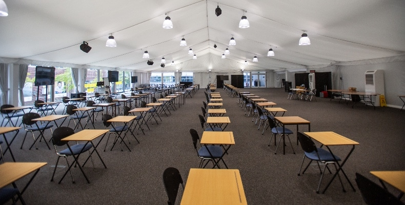 temporary learning spaces
