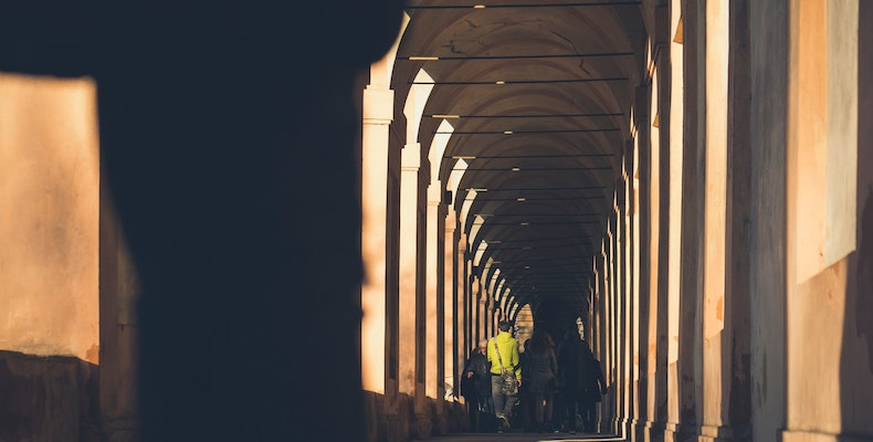 Bologna University is one of those set to shut until mid-March because of the coronavirus. Photo: Davide Cantelli/Unsplash