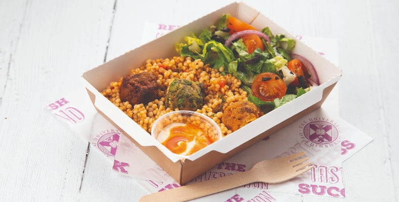 UB catering trends 2020 Edinburgh - salad box