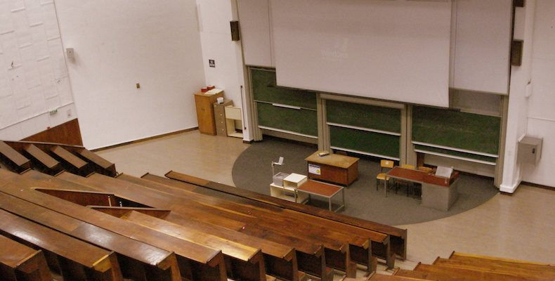 Cambridge University cancels face-to-face lectures next year lecture theatre