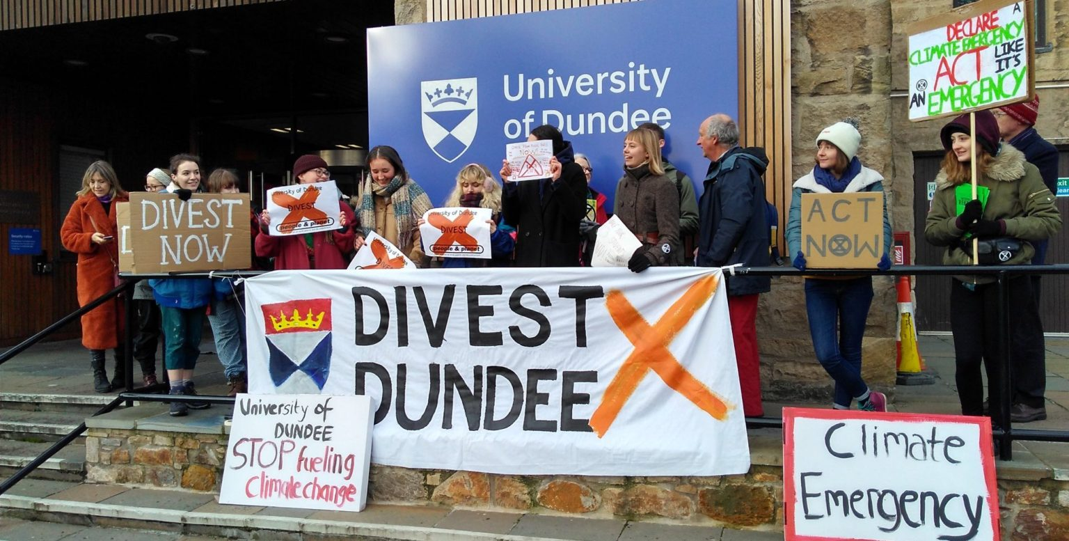 Dundee joins growing number of universities to reveal divestment plans