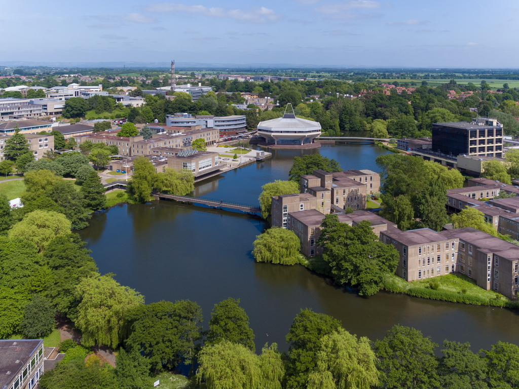 University of York Campus West from above. Photo: University of York/Joe Burn and Andy Carman
