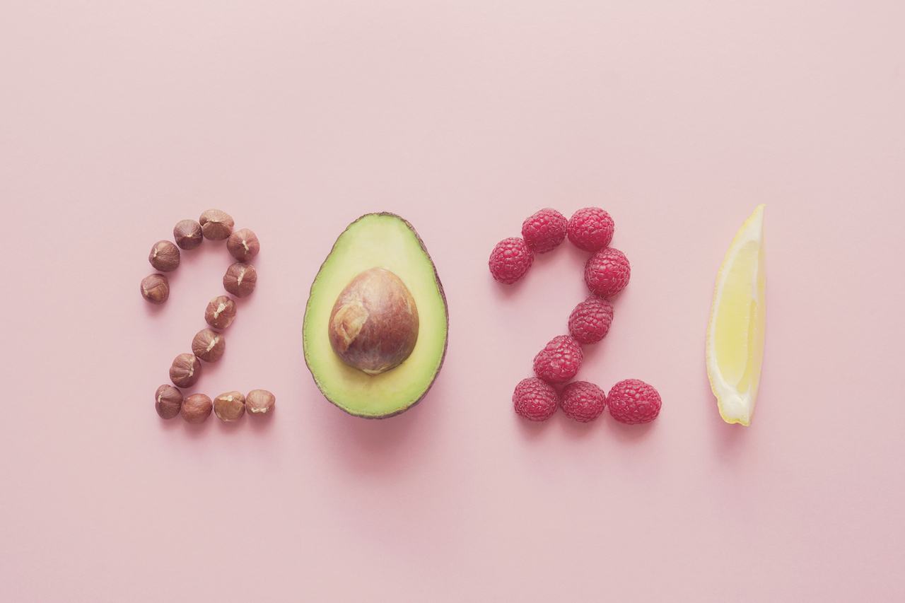 Happy New year, health diet resolution, goals and lifestyle