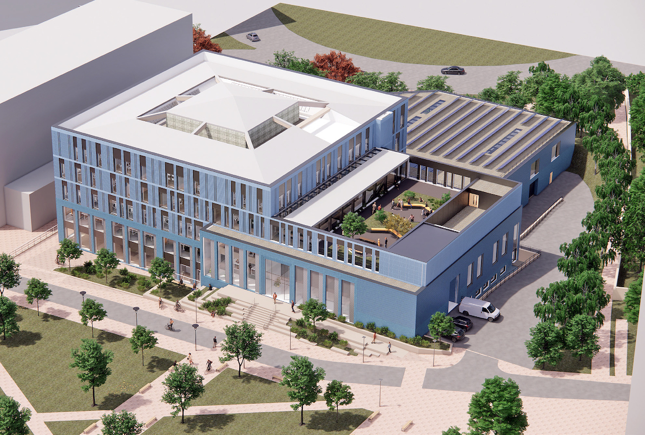 The University of Plymouth's new engineering and design facility - aerial view (Credit University of Plymouth)